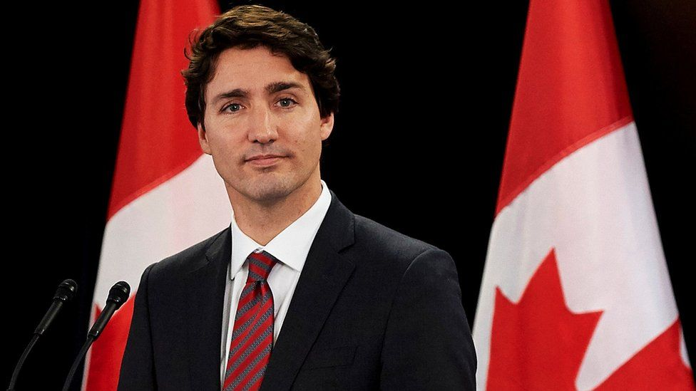 Canadian Prime Minister Justin Trudeau delivers a speech at Canada House in central London, 25 November 2015