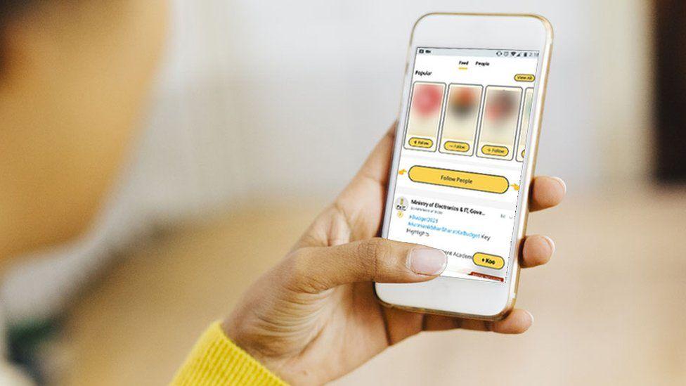 Aplikasi Koo di ponsel pintar