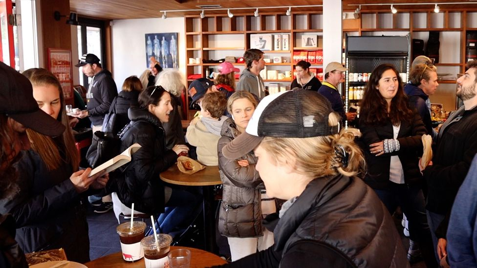 Customers at an Equator Coffees shop