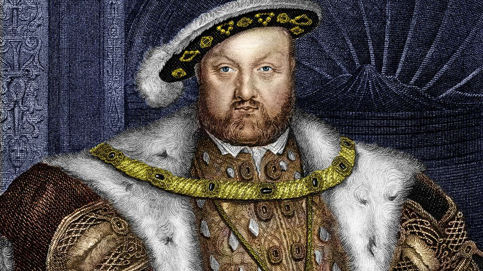 Henry VIII split from the Roman Catholic church after he rowed with the Pope over one of his divorces