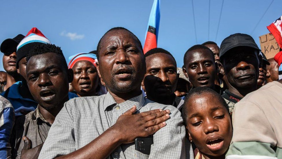 Chadema supporters at a rally in August in Dar es Salaam, Tanzania