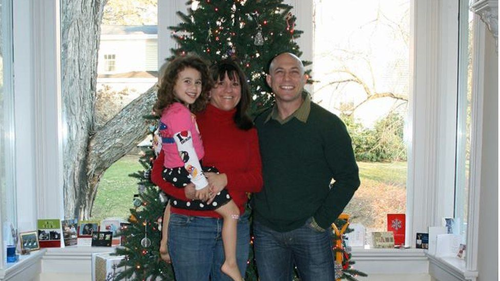 The Richman family poses for a Christmas photo