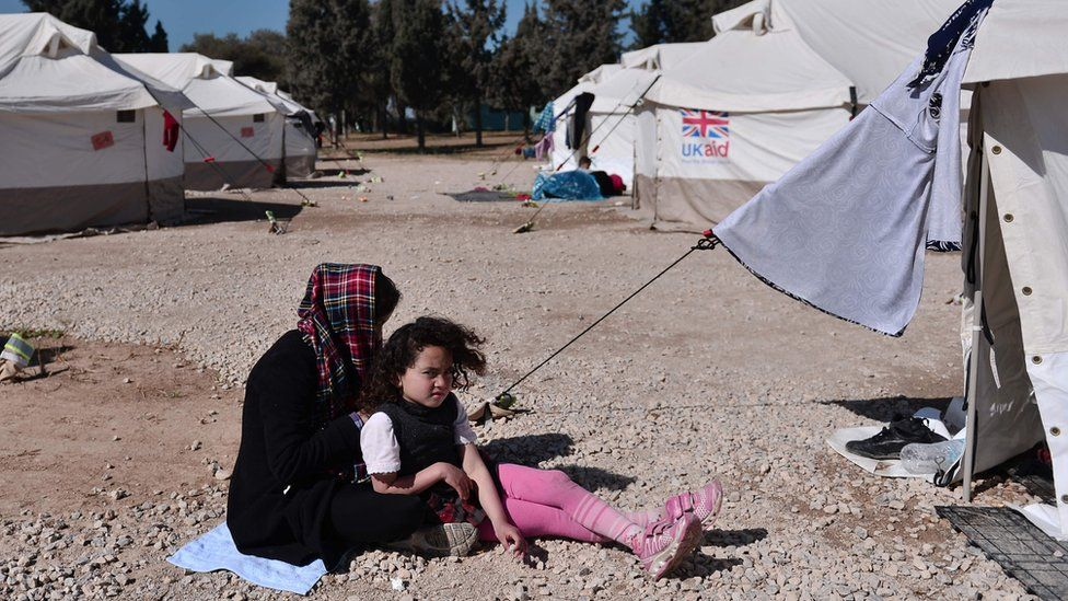 Afghan girls stranded at a migrant camp in Greece