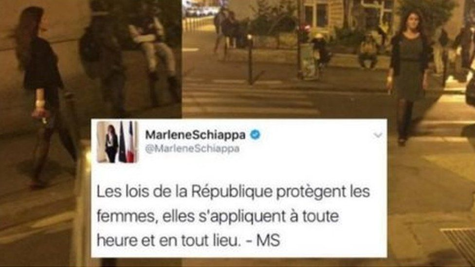 Marlène Schiappa's images posted on Twitter were hastily taken down