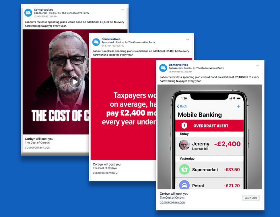 Conservatives anti-Labour Facebook ads