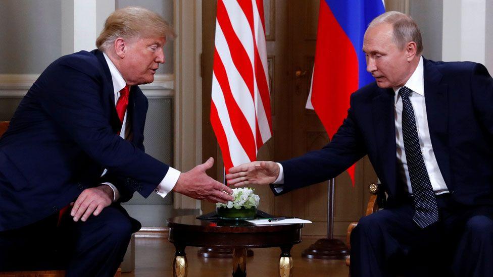 Presidents Trump and Putin in Helsinki, 16 June