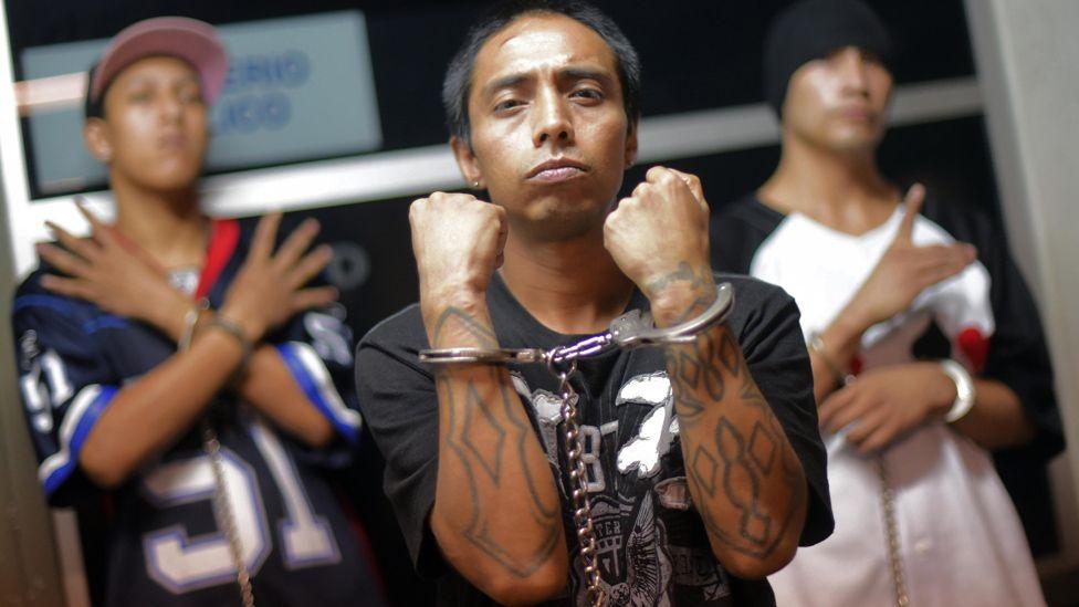Members of a Guatemalan gang