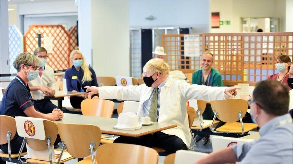 Boris Johnson at Royal Berkshire Hospital