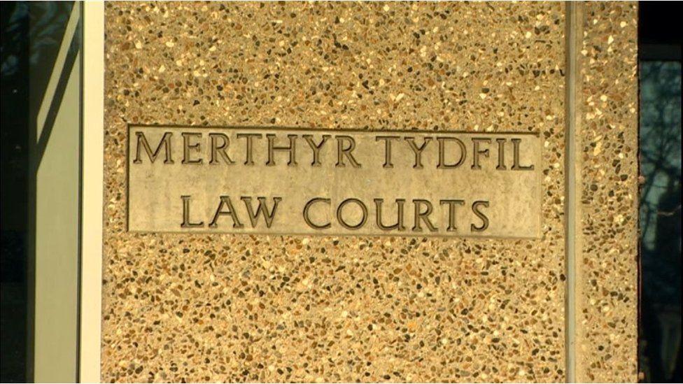 Merthyr Crown Court sign