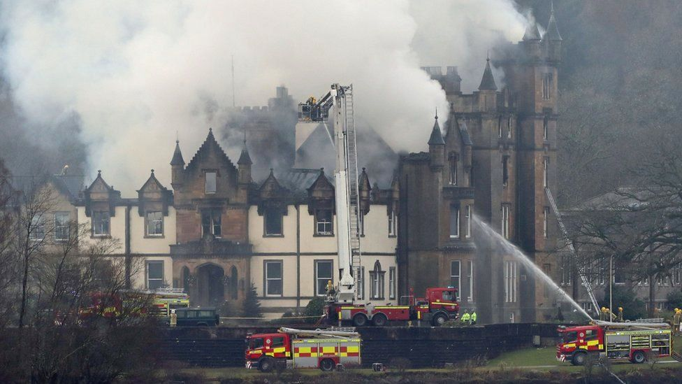 Cameron House Hotel on the banks of Loch Lomond, where the fire was