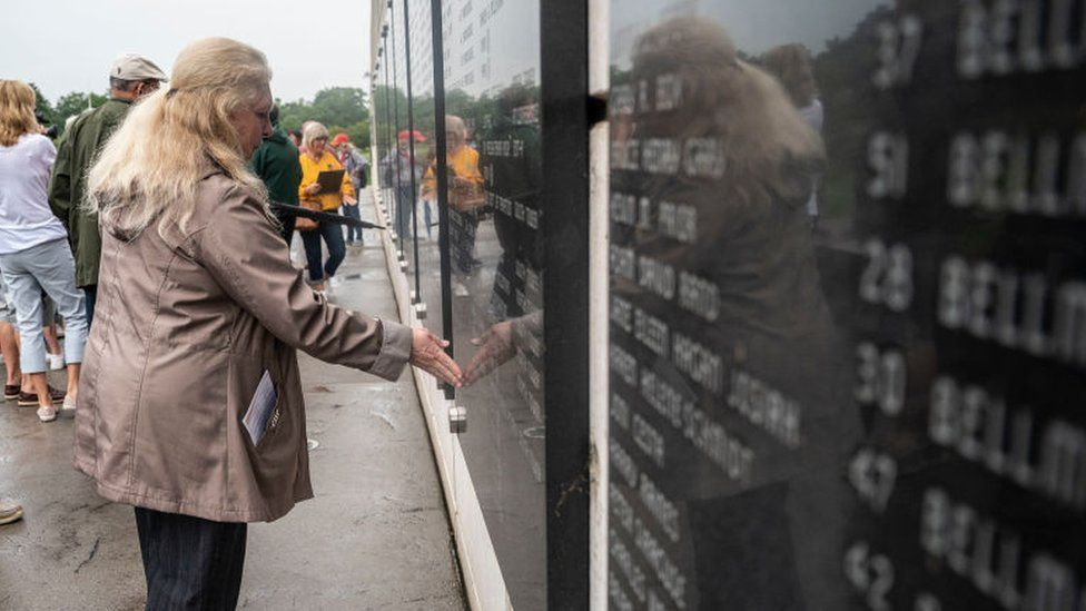 A first responder remembers co-workers at a memorial in New York