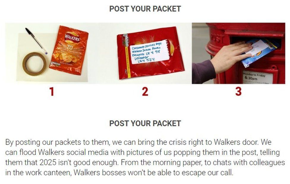 Post your packet instructions on the 38 Degrees website