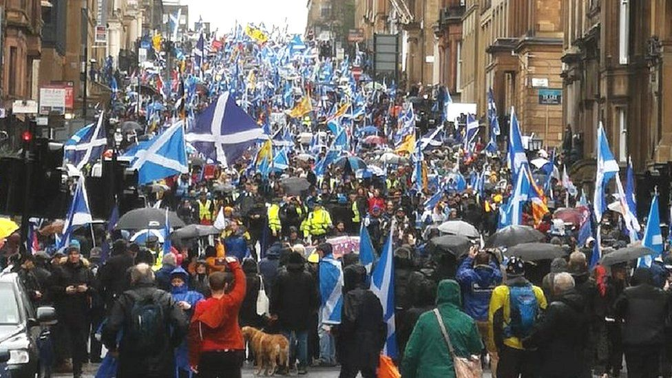 Marchers in Glasgow