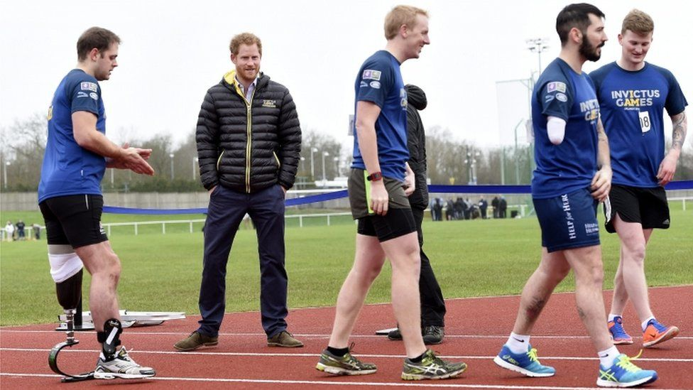 Prince Harry and injured servicemen