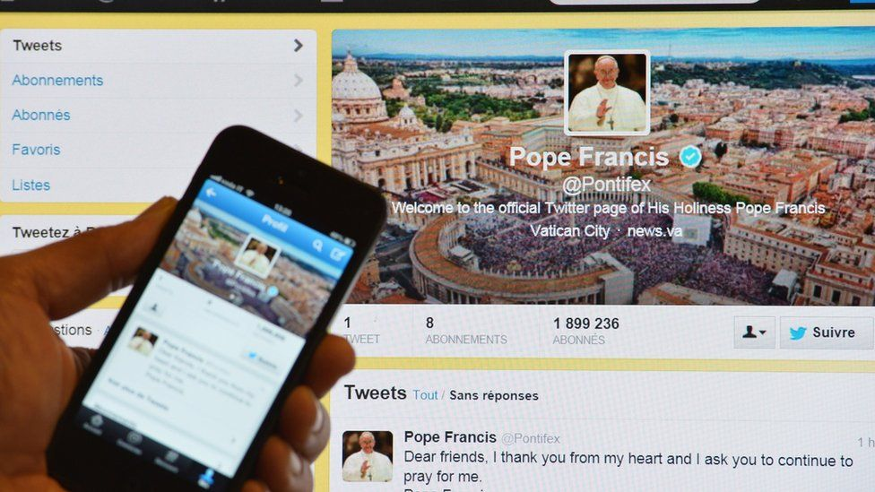 Pope Francis Twitter account