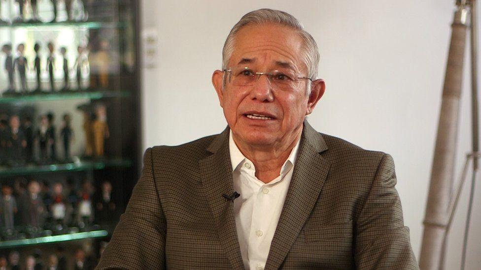 Jorge Gaviño during a BBC interview