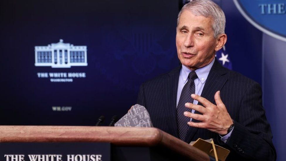 NIH National Institute of Allergy and Infectious Diseases Director Anthony Fauci addresses the daily press briefing