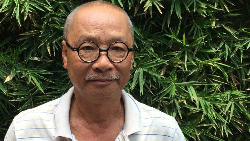 Nguyen Vien, a 66-year-old writer at home in Ho Chi Minh, Vietnam, on 3 September 2015