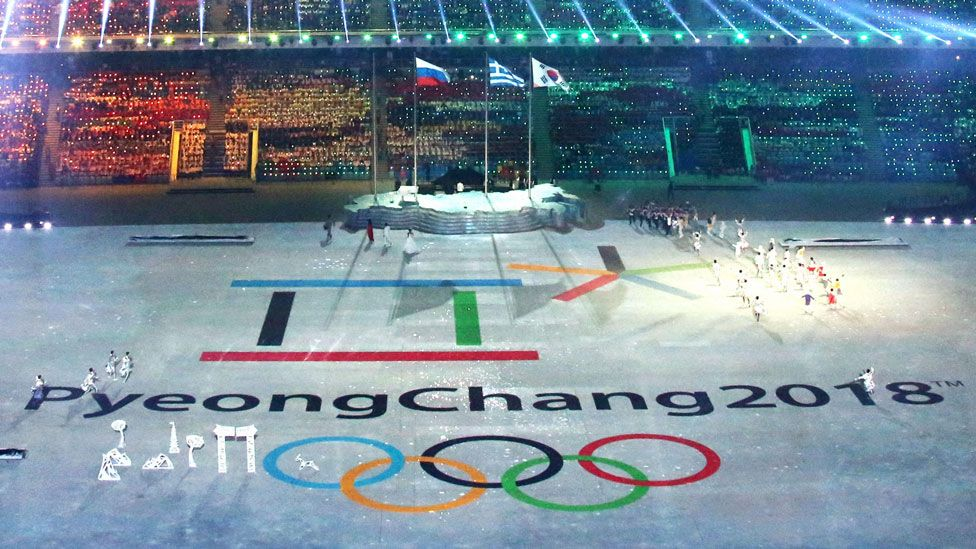 The logo for the 2018 Pyeongchang Winter Olympics is unveiled