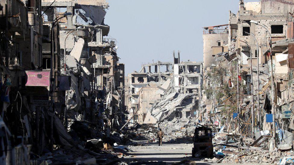 Clock Square ruins in Raqqa