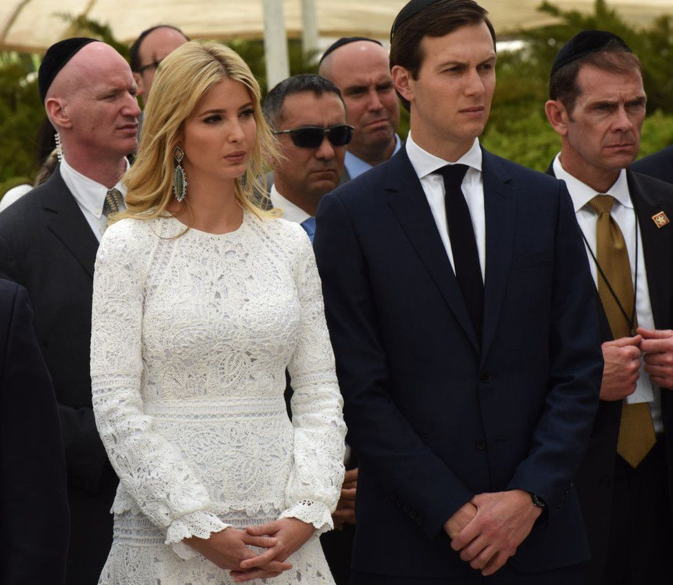 Trump and her husband, Jared Kushner, are traveling with the president