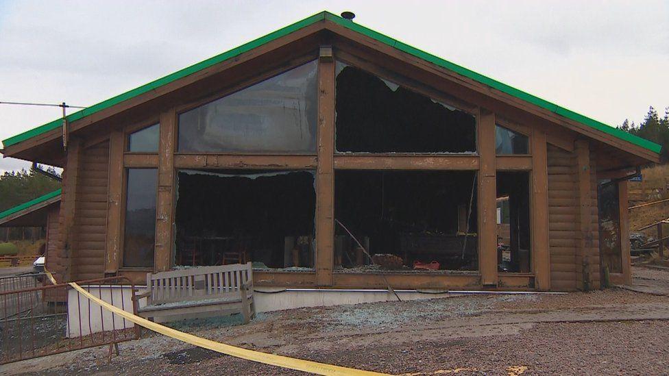 Damaged building