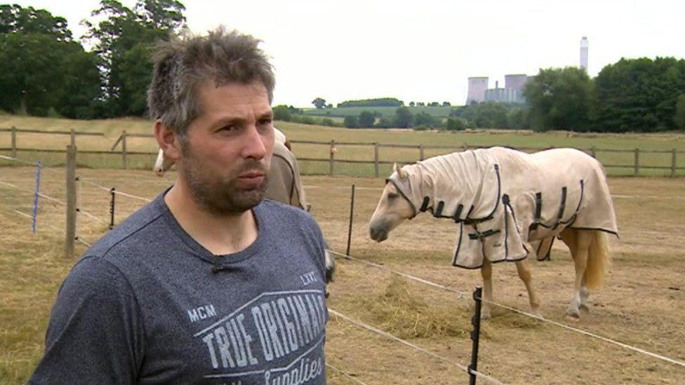 Trevor Street and Faith the horse on Sunday