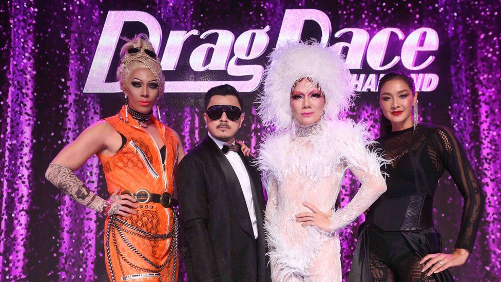 Pagina Heals, Art Anya and other hosts of Drag race Thailand