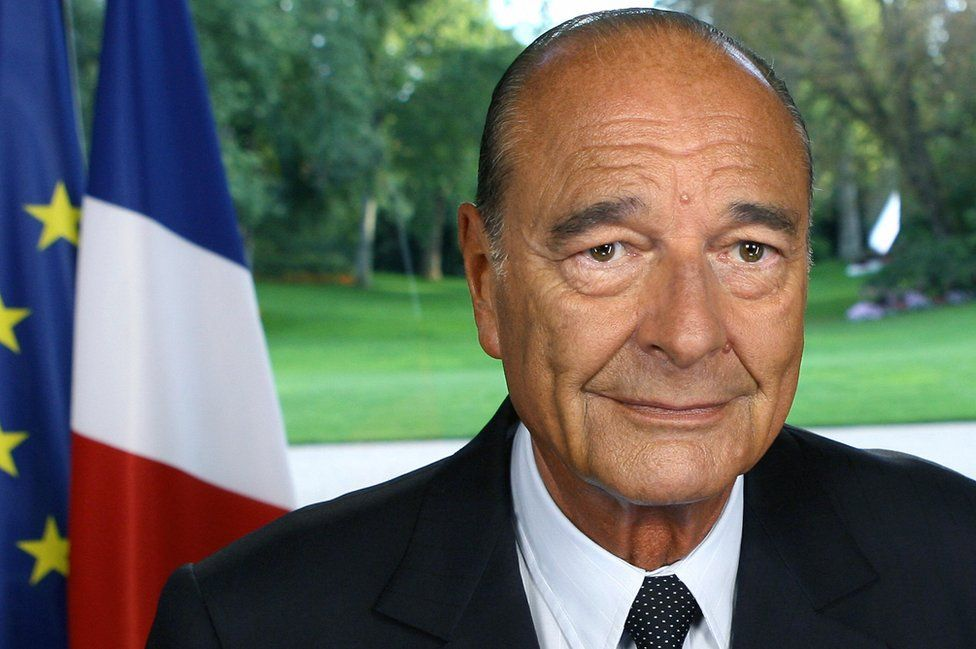 French President Jacques Chirac makes a televised address