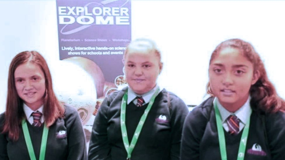 Lexi, Neve and Malikah from Treorchy Comprehensive