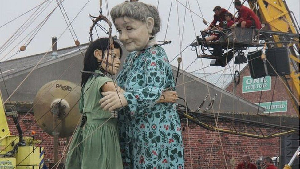 Little Girl Giant and Grandmother Giant