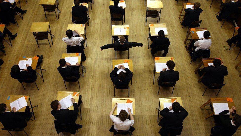 Children in exam