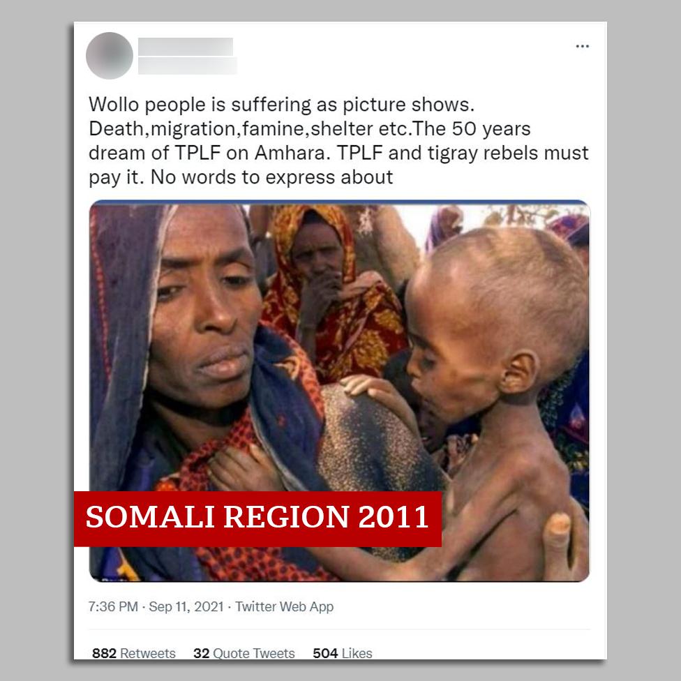 Säutsu ekraanipilt koos Somaalia piirkonna pildiga
