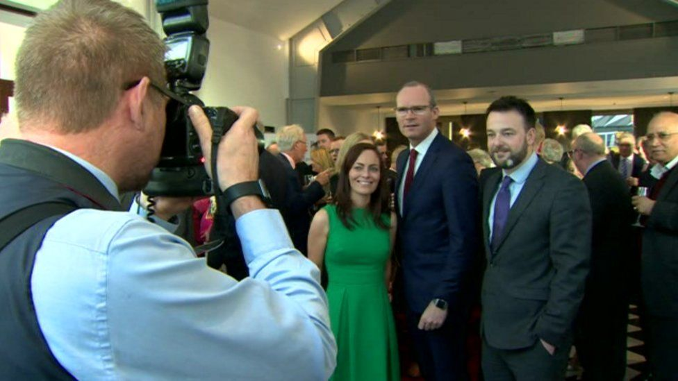 The SDLP leadership was pictured with Irish Foreign Minister Simon Coveney at the dinner