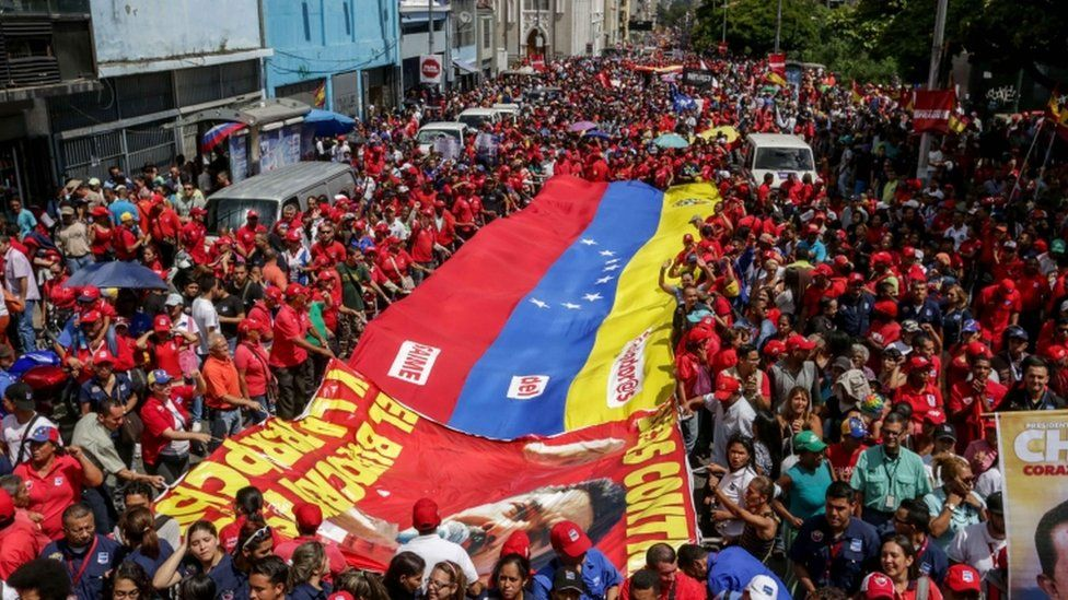 Maduro supporters in Caracas, 18 Oct