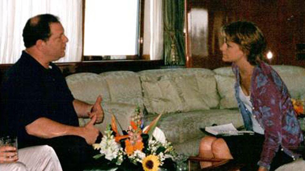 Harvey Weinstein and Zelda Perkins in 1998
