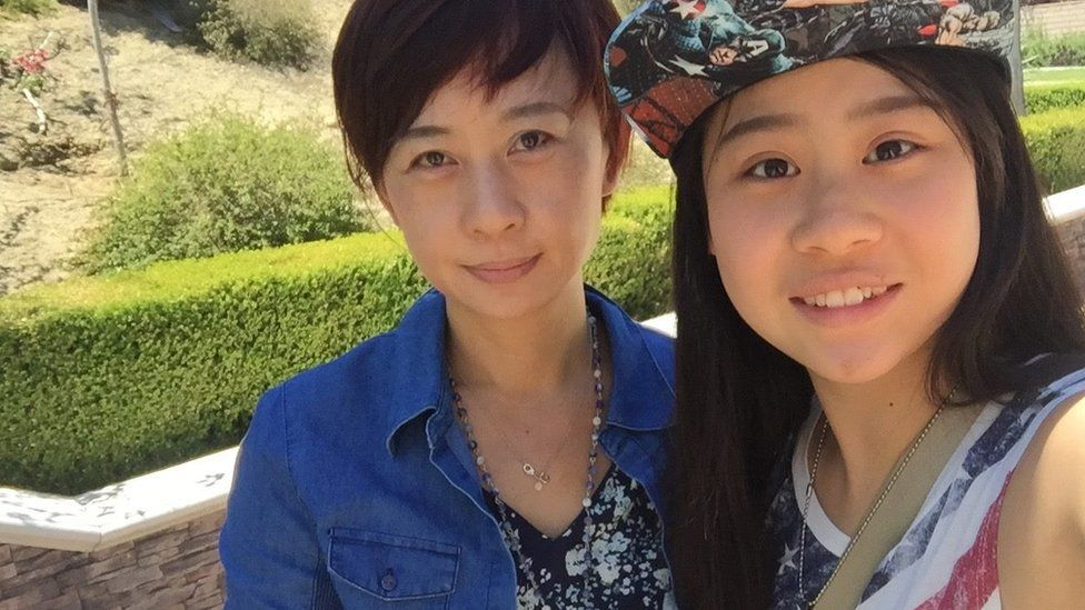 Cassandra Hsiao and her mother