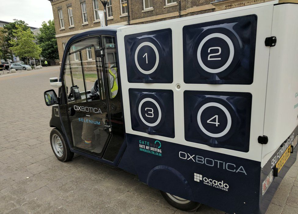 driverless delivery truck