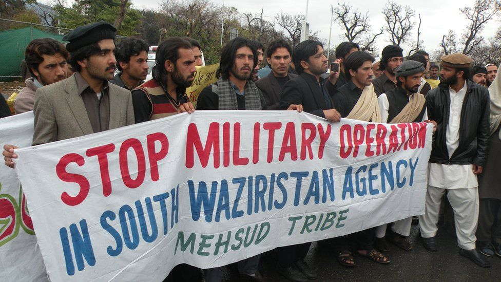 South Waziristan residents hold a protest in 2013