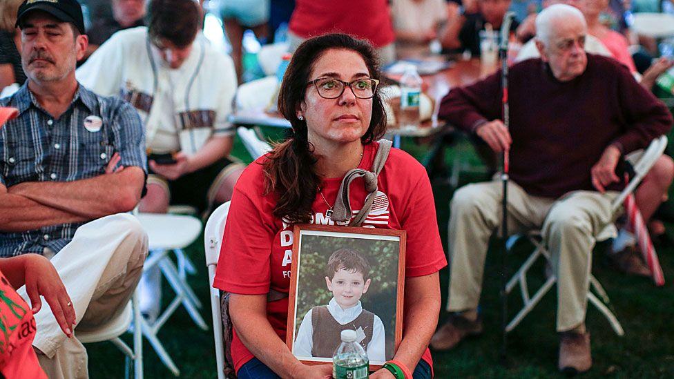 Mother of Sandy Hook victim at gun violence rally