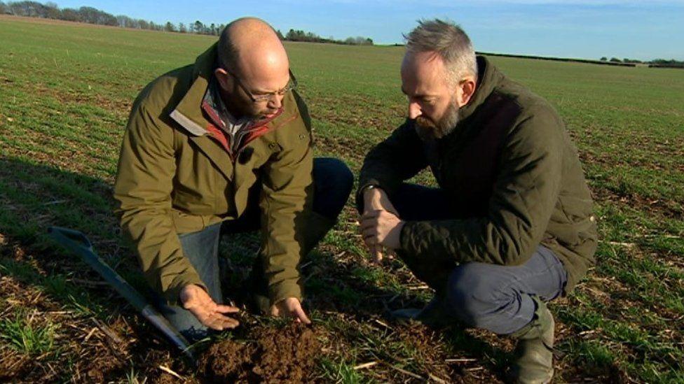 Jake Freestone (left) and BBC correspondent David Gregory-Kumar
