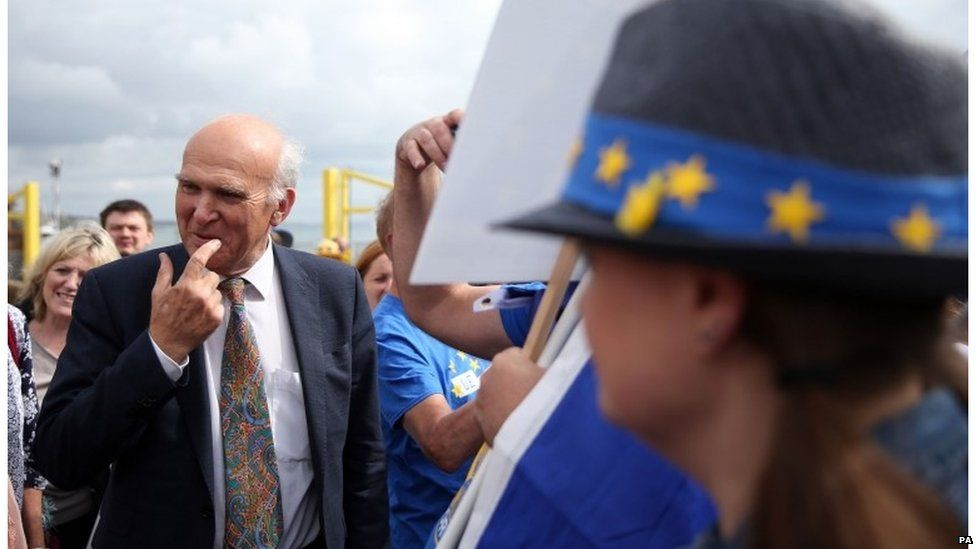 Vince Cable at the anti-Brexit demonstration