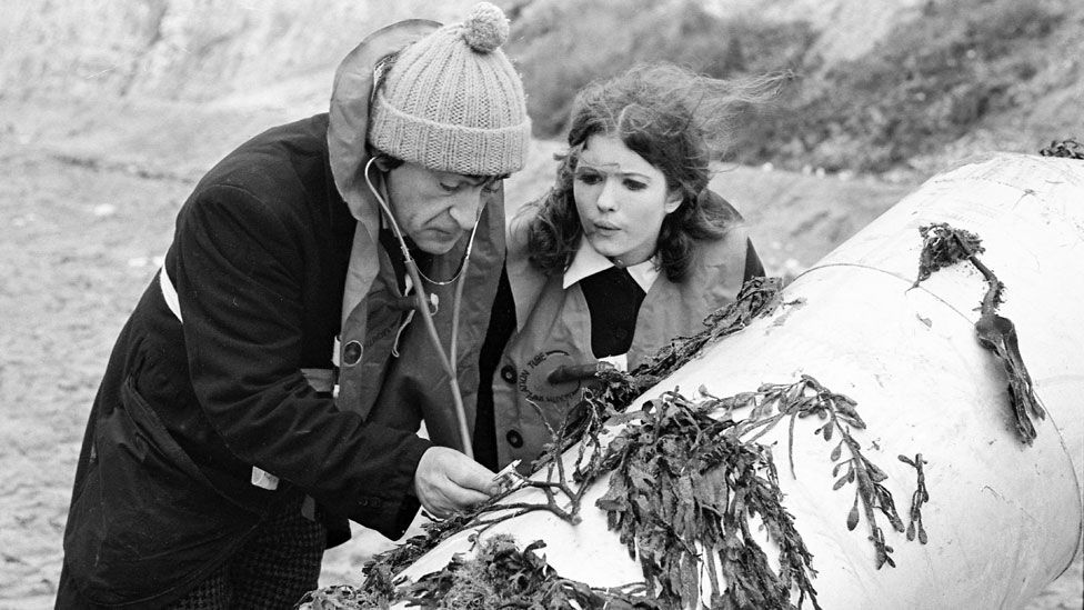 Deborah Watling with Patrick Troughton in a 1968 episode of Doctor Who
