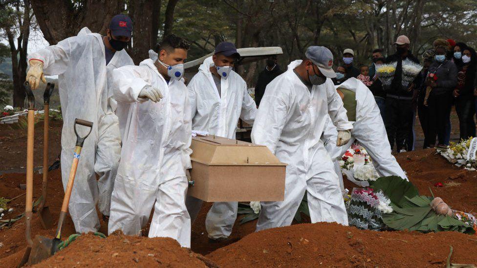 A funeral in Brazil