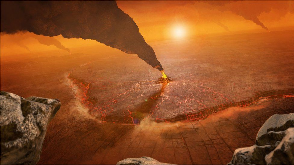 Venus volcano