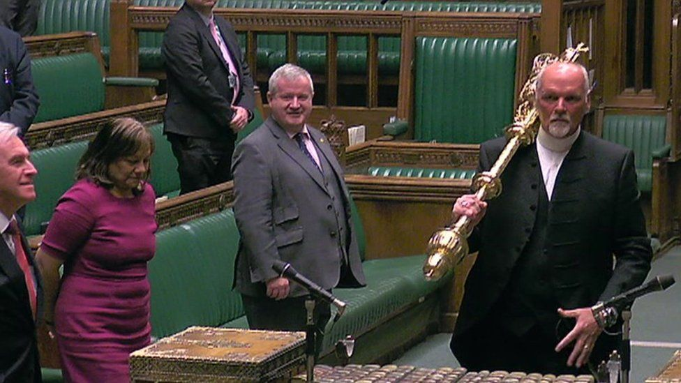 The mace is removed from the Commons chamber at the end of the day