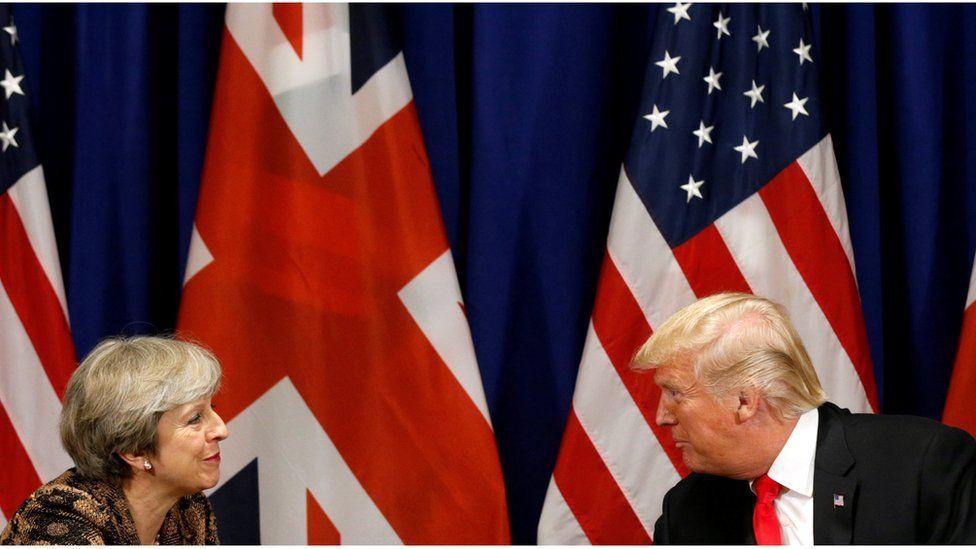 British PM Theresa May and US President Donald Trump