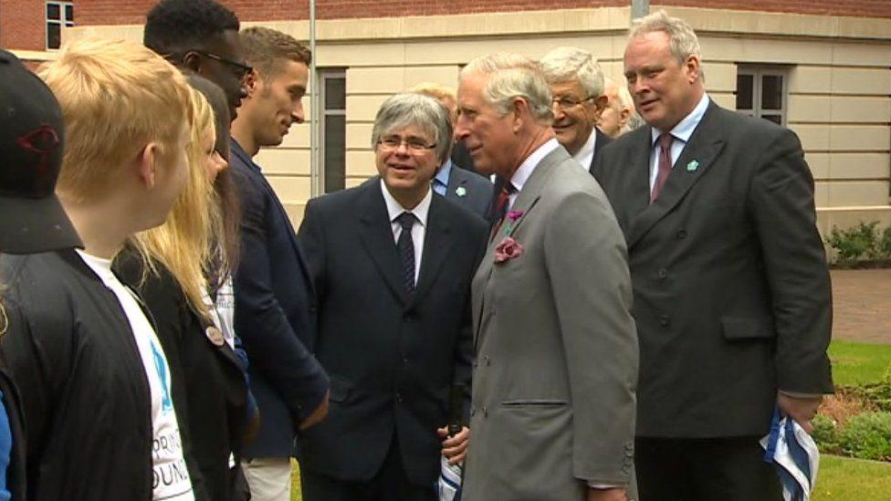 Prince Charles speaks to Swansea students