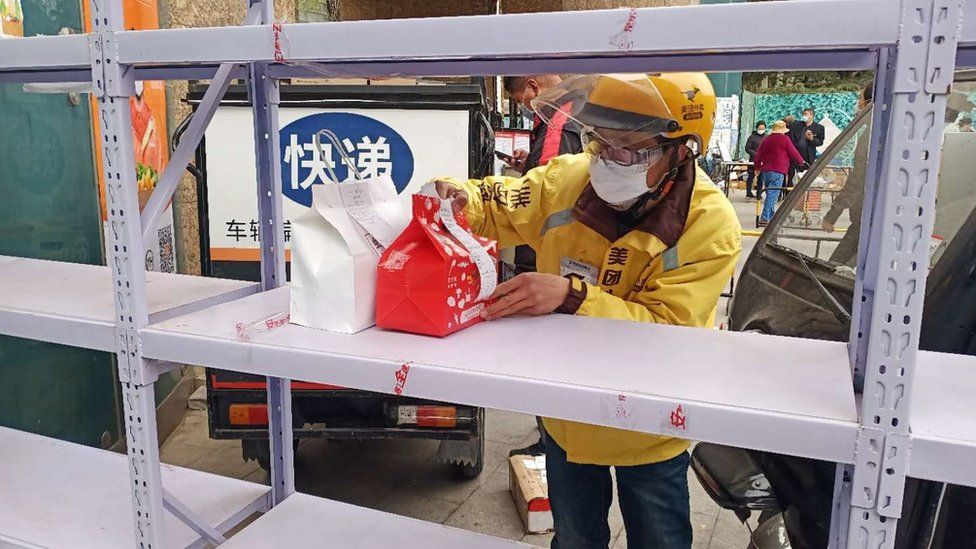 Meituan brought in a contactless delivery option which allowed food to be dropped off at designated points to avoid contact between customers and riders. ""