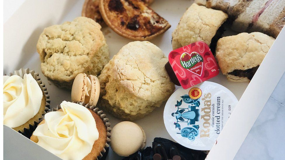 A cream tea delivery box from Homemade by Victoria